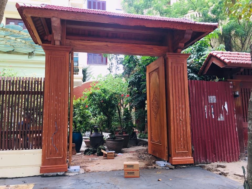 mẫu cổng gỗ